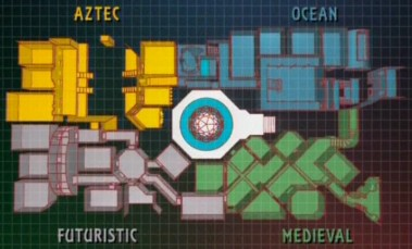 Map of the Crystal Maze, Series One to Three